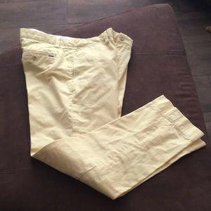 Pale Yellow Ralph Lauren Polo Slacks